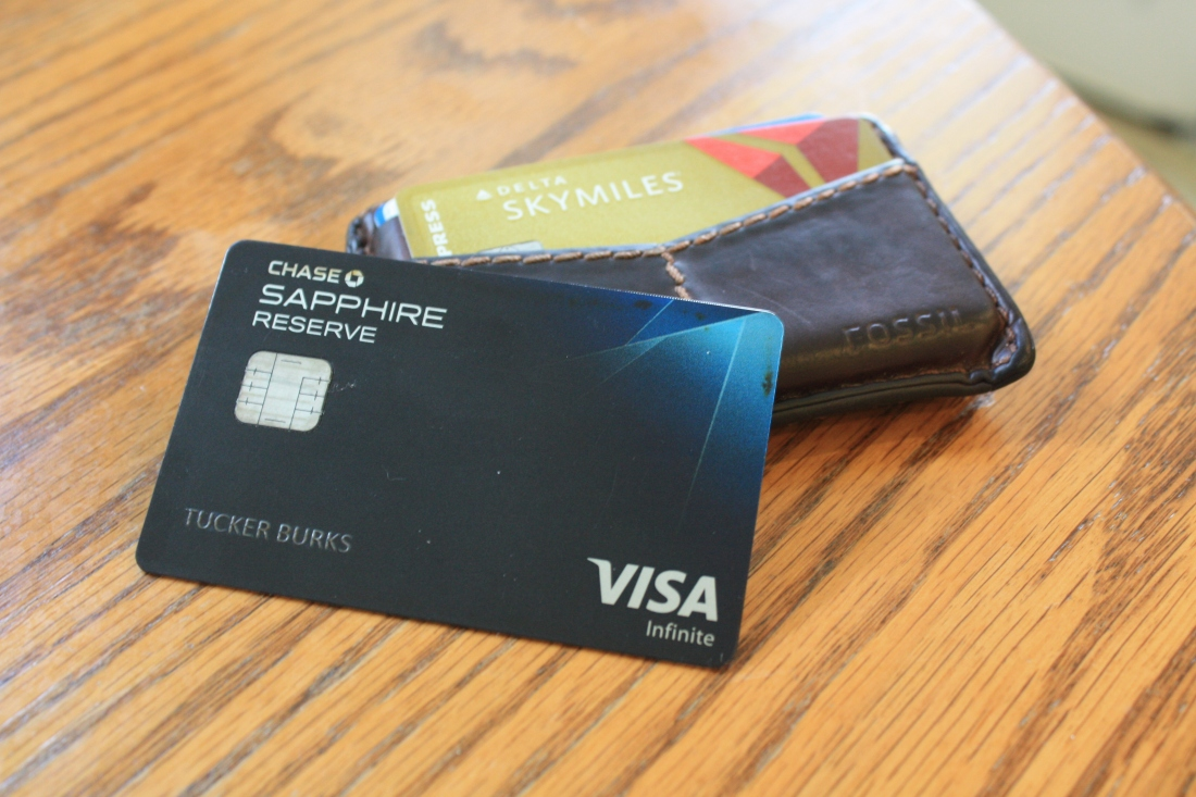 Chase Sapphire Reserve and Gold Delta Skymiles card from american express