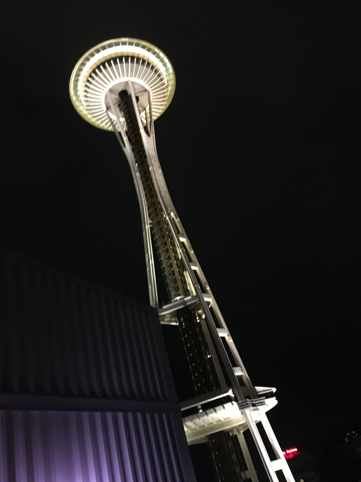 View of the Space Needle from the Hyatt Place Seattle-Downtown